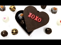 Chocolate Heart Box Filled with Surprise Candy Bar Cake Truffles - It's Raining Flour Episode 118