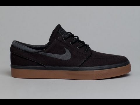 Nike SB Zoom Stefan Janoski SB Black/Anthracite/Gum Canvas Shoe - YouTube