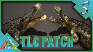 SARCO WITH A DEATHROLL TLC PATCH BREAKDOWN NEW MODEL  ABILITIES - Ark Survival Evolved