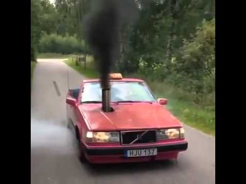Crazy Volvo Taxi Goes Rolling Coal Like Never Before ...