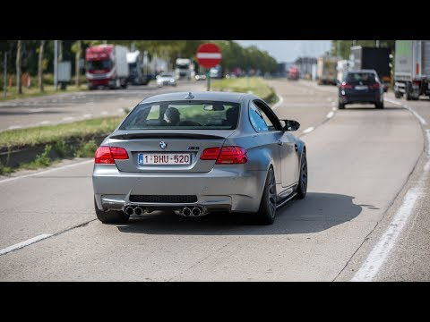 BMW M3 E92 with Eisenmann Exhaust - Powerslides & Accelerations !