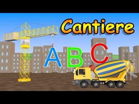 Impara l`alfabeto con il cantiere - AlexKidsTV