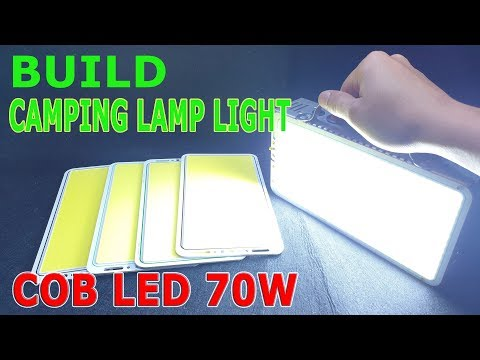 Build A Camping Lamp Light Using Old Laptop Battery