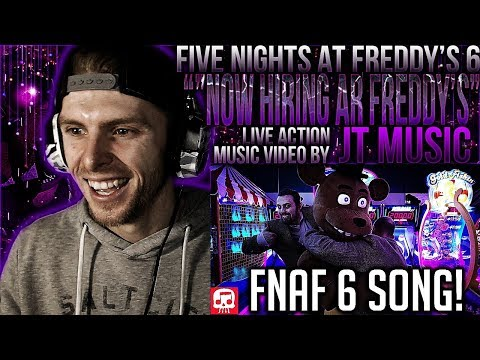 Vapor Reacts #577 FNAF 6 SONG LIVE ACTION MUSIC VIDEO