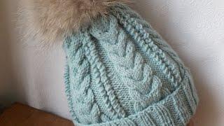 Вязание шапки  на 5(пяти)  спицах,(Мастер-класс по вязанию шапки на 5 (пяти) спицах без шва.Master class on knitting hats for five (5) Knitting seamless., 2015-03-03T04:34:08.000Z)