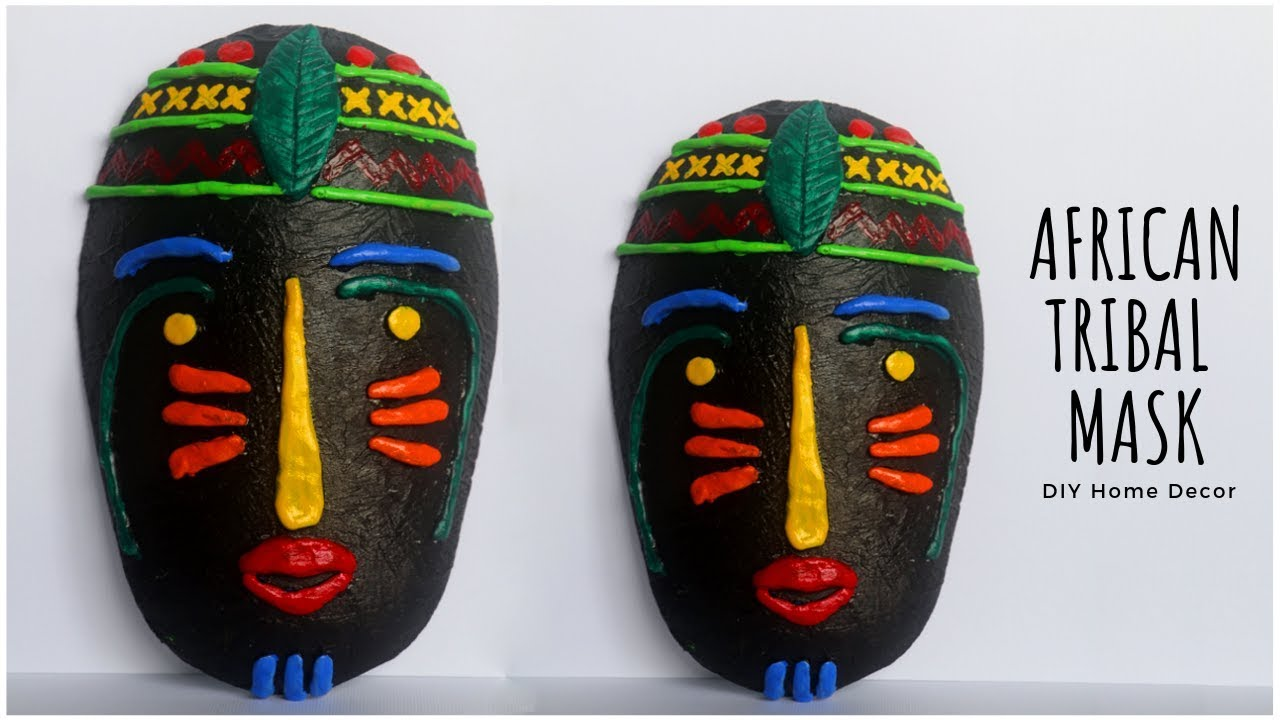 African Mask Diy Home Decor Tribal Wall Hanging Decoration Little Crafties