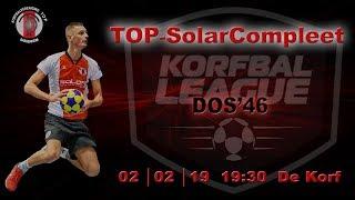 TOP/SolarCompleet 1 tegen DOS'46 1, zaterdag 2 februari 2019
