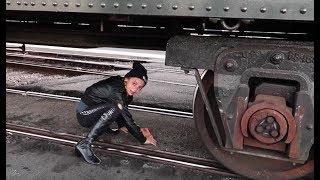 STUCK UNDER A TRAIN!!