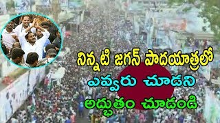 YS Jagan Padayatra Fly Cam Drone Visuals At  Parvathipuram  Cinema Politics