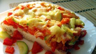 Сочная Куриная грудка с овощами  под сыром