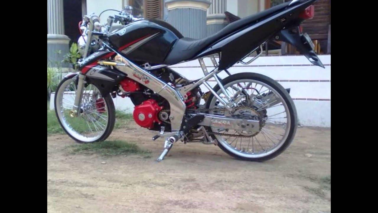Modifikasi Motor Vixion Drag Style