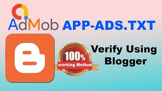 How to Verify app-ads.txt with Blogger | Blogspot app-ads.txt Verification for Android Apps 2019