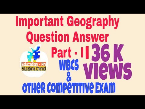 IMPORTANT GEOGRAPHY ( WEST BENGAL PART - II ) 2017 #WBCS