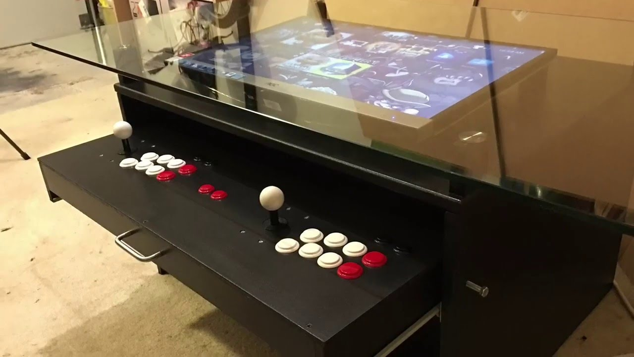 Coffee Table Arcade Build - YouTube