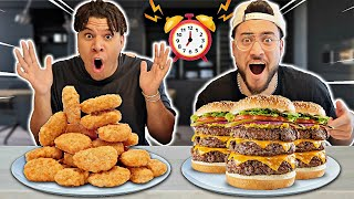 SPEED EATING FOOD CHALLENGE!! (Ft. Wolfie)