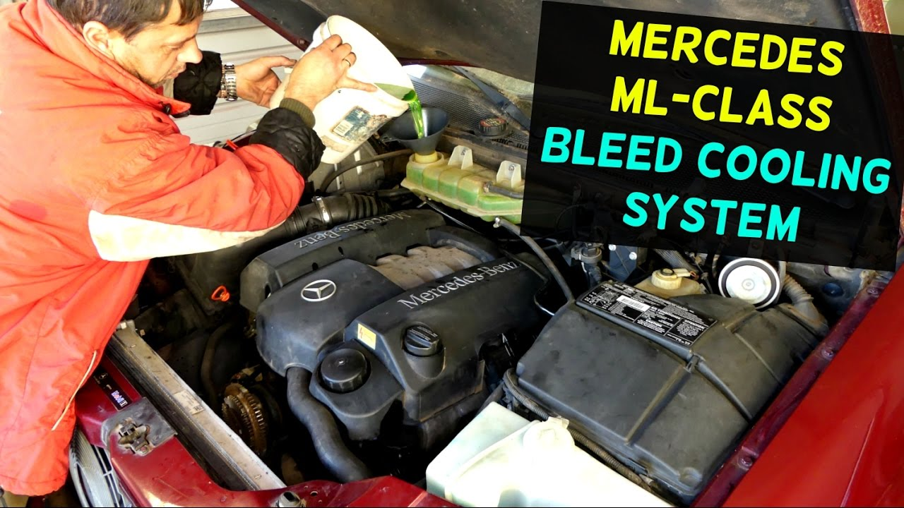 mercedes w163 how to bleed cooling system ml320 ml430 ml500 ml350 ml230 ml270 [ 1280 x 720 Pixel ]