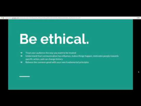 Principles of Ethical Communication Video - YouTube