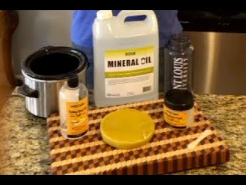 DIY Cutting Board/Butcher Block Mineral Oil and Beeswax Finish