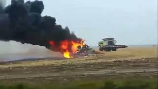 Pożar ciągnika Kombinat Rolny Kietrz