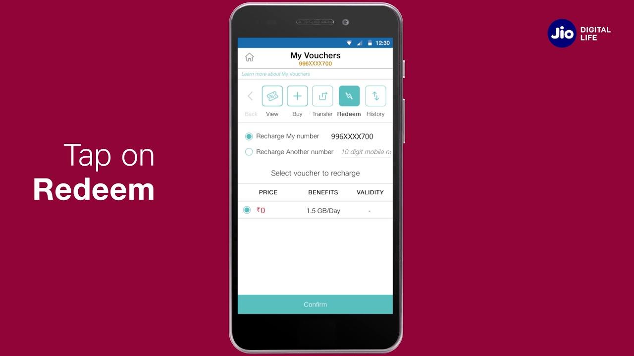 Jio Care How To Redeem Vouchers Using Myjio App Marathi Reliance Jio Youtube