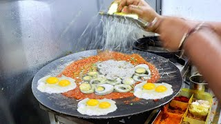 Dabang Indian Lady Making 6 Layer Omelette Dish | Must Watch Dish | Indian Street Food