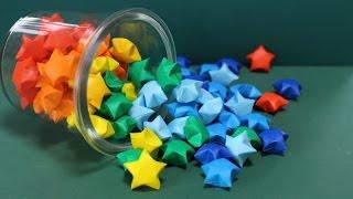 折り紙「星」レインボースターズの折り方 How to make