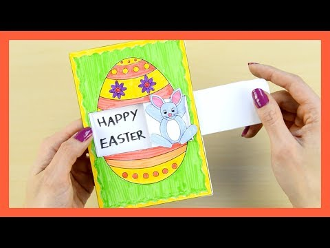 How to Make Easter Card - fun Easter craft for kids with template