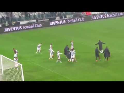 Juventus-Torino 2-1 - Gol Pirlo e saluto calciatori Juventus - 30 novembre 2014