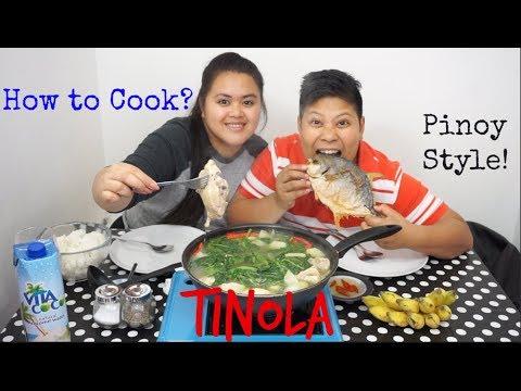 Mukbang / Cookbang Filipino Food - how to cook Tinola and massive Fried Fish