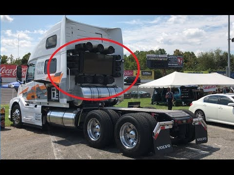 """VOLVOS BIG RIG """"BOOMER"""" HAS 2 HUGE 24"""" SUBWOOFERS & MORE!"""