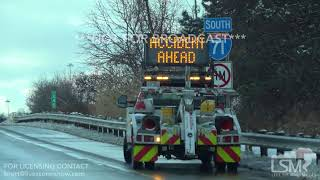 12-14-2017 Cleveland, Oh Cleveland metro,  accidents and slippery conditions from lingering snow
