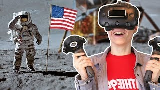 Apollo 11 VR Simulator Experience - Rocket Launch, Moon Landing & Spaceship Docking