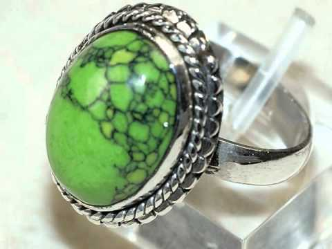Collection of 925 Sterling Silver Ring with Natural Gemstones - 1