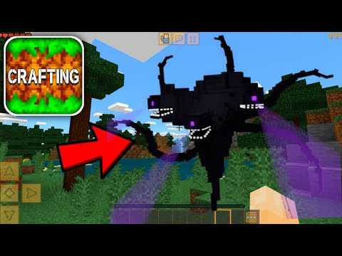 How to FIGHT WITHER STORM in Crafting and Building