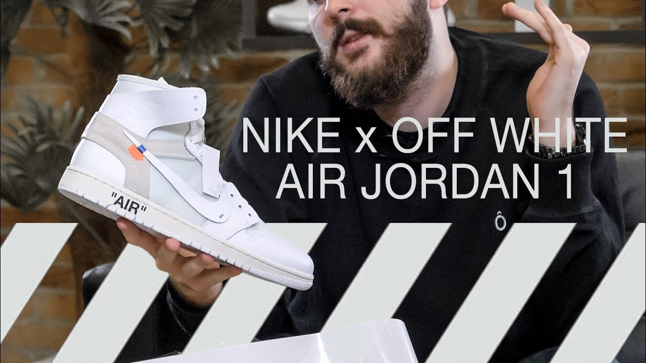 ffaa4d3394f50c OFF-WHITE x NIKE AIR JORDAN 1  WHITE  UNBOXING - YouTube