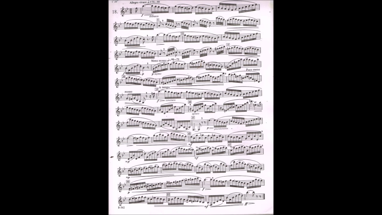 Paul Jeanjean: 18 Advanced Etudes: Clarinet