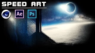 SpeedArt | Space Time [Cinema 4D + Photoshop CC + After Effects CC]