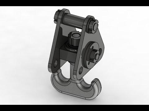 Crane hook (Part 2) AutoCAD 3D modeling tutorial | AutoCAD 3D Modeling 5