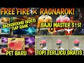 FREE FIRE X RAGNAROK EVENT GRATISAN DAPET TOPI POU PET BARU Amp BOCORAN BAJU MASTER S15 mp3