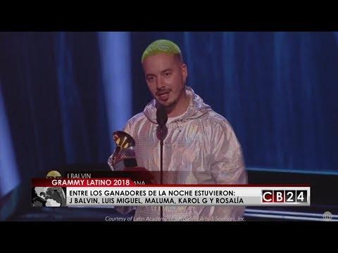 J Balvin, Luis Miguel y Maluma triunfaron en los Latin Grammy 2018