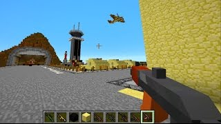 Minecraft Mods   Gun Mod Deathmatch In Military Base With The Pack