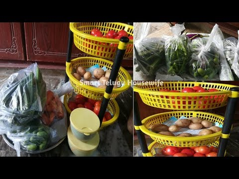 How to Organize Vegetables Tips |Vegetable storage Kitchen tips in Telugu | SmartTeluguHousewife