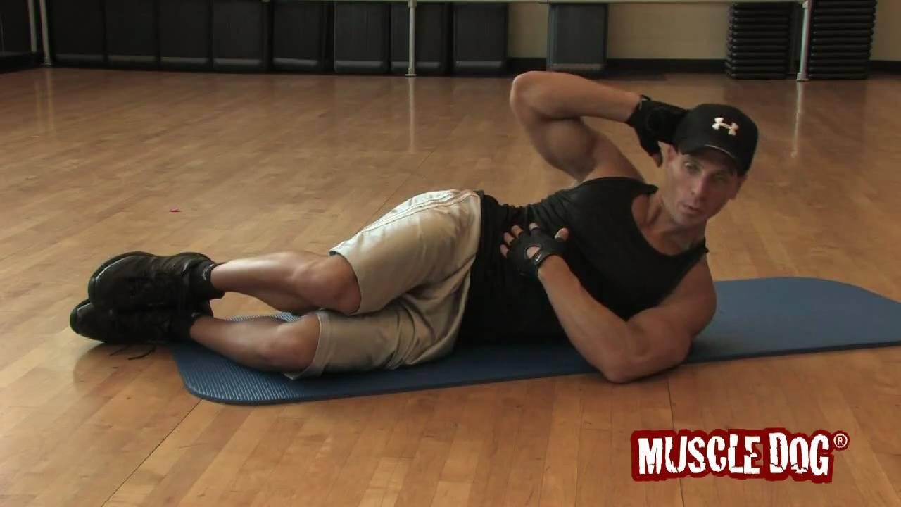 Muscledog Com Presents Floor Oblique Crunches Youtube