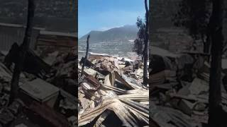 After the fire in Houtbay Capetown