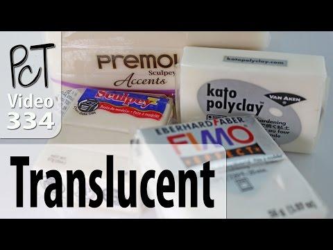 Translucent Polymer Clay - Premo, Kato, Fimo, Sculpey III