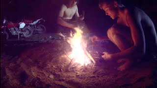 Motorbike Survival Night - Spearfishing EEL - Catch n Cook | TDB