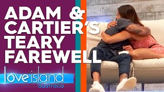 Adam's final message to Cartier as he leaves the Villa | Love Island Australia 2019