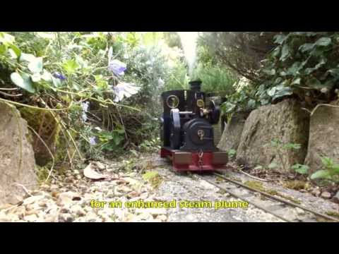 Simple 7/8ths Garden Railways – Live Steam Regner Vincent with Bamboo Wagons