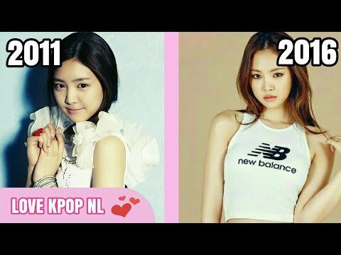 K-POP Girl Groups - Debut Song VS The latest song