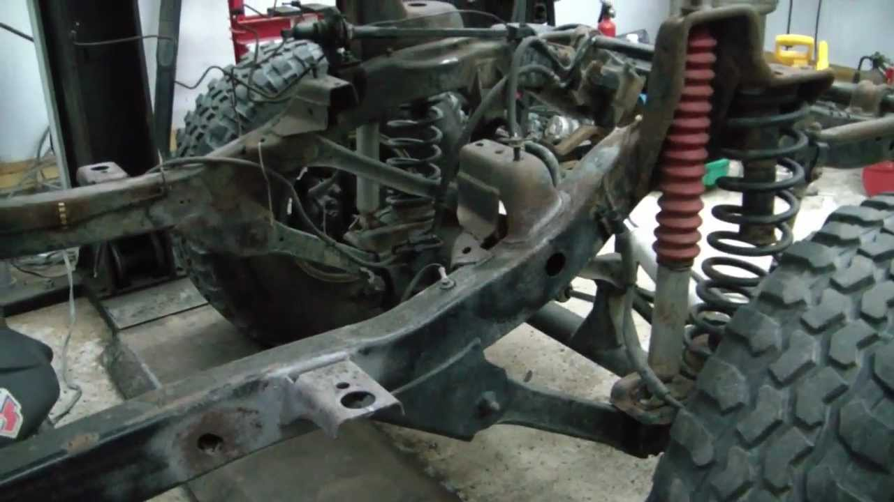 Tj Jeep Project V8 Swap 7 Frame Repair 2 Youtube